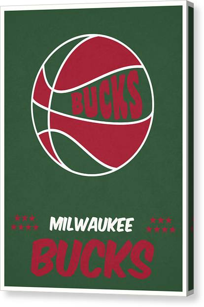 Milwaukee Bucks Canvas Print - Milwaukee Bucks Vintage Basketball Art by Joe Hamilton