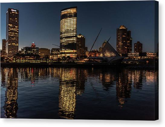 Milwaukee Reflections Canvas Print
