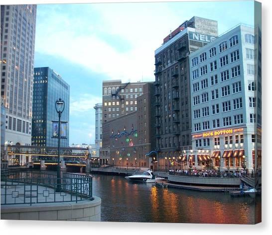 Milwaukee River Walk Canvas Print