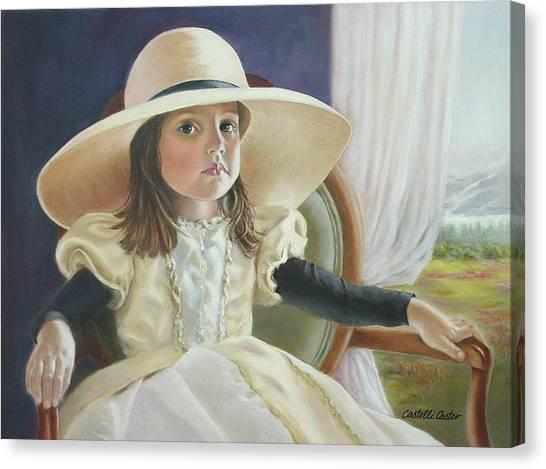 Mimi's Hat Canvas Print by JoAnne Castelli-Castor