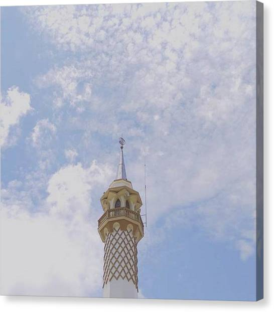 Islamic Art Canvas Print - Minaret With Lovely Sky Background by Dito Ari Prayoga