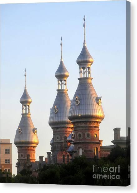 University Of Florida Canvas Print - Minarets Over Tampa by David Lee Thompson
