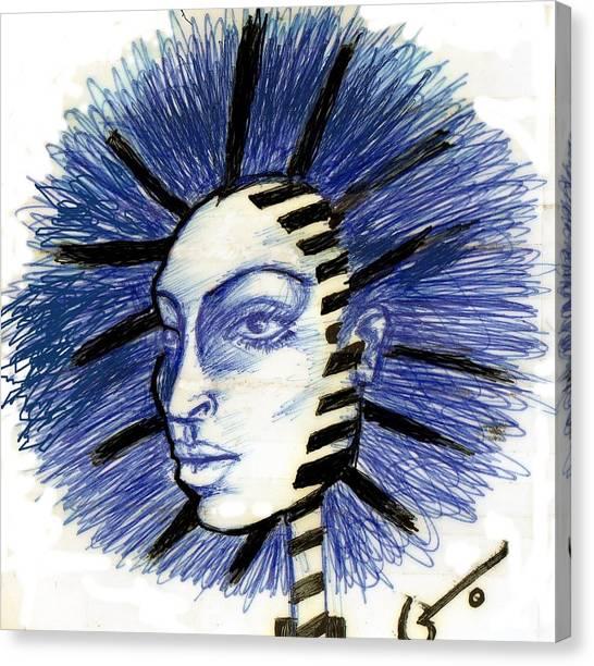 Mind Blowing Canvas Print by Agatha Green