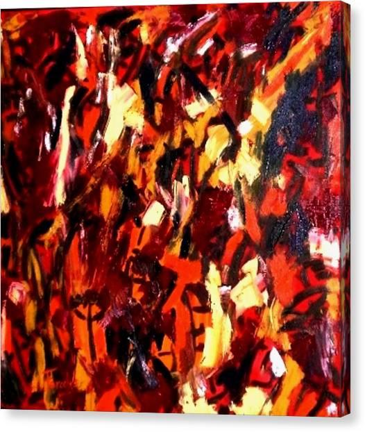 Mind Commotion  Canvas Print by Fareeha Khawaja