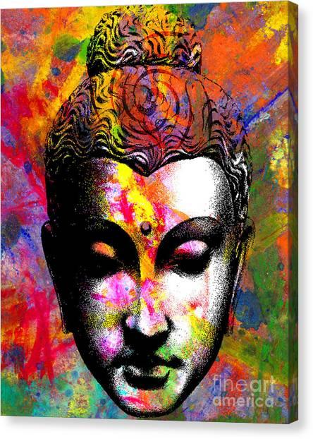 Meditate Canvas Print - Mind by Ramneek Narang