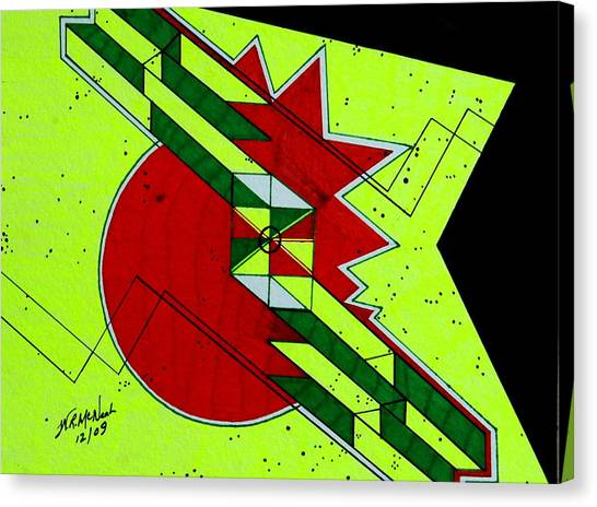 Mind Stroke Canvas Print by Willie McNeal