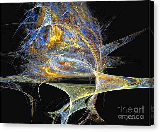 Canvas Print featuring the digital art Mindblow by Sipo Liimatainen