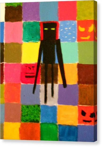 Minecraft Canvas Print - Minecraft Enderman by Sheri Keith via Jasmine