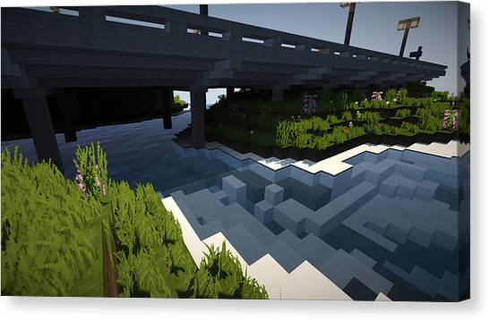 Minecraft Canvas Print - Minecraft Shaders Hd by Braden Boyko