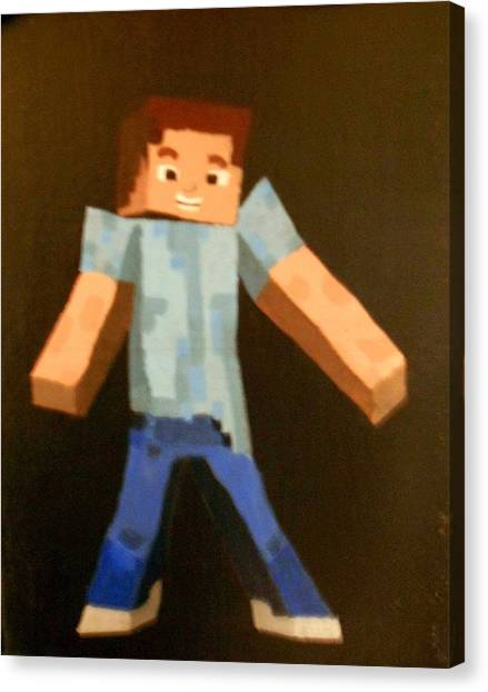 Minecraft Canvas Print - Minecraft Steve by Sheri Keith via Jayd