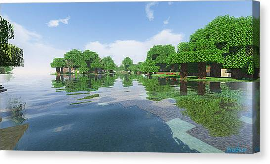Minecraft Canvas Print - Minecraft Trees by MrMax FX