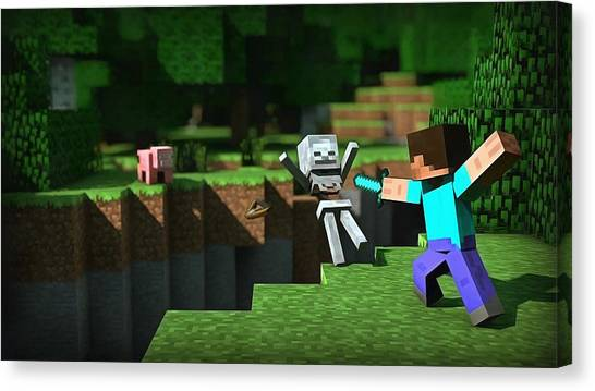 Minecraft Canvas Print - Minecraft by Vadim Pavlov