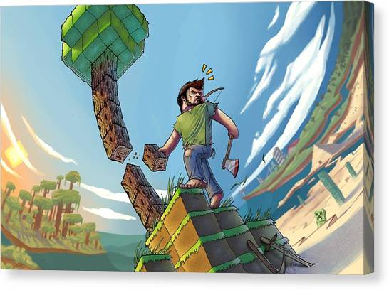 Minecraft Canvas Print - Minecrafter by Matt Akin
