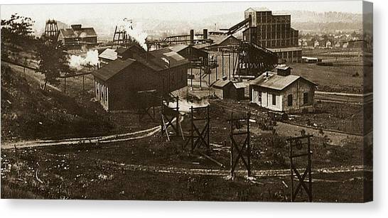 Mineral Springs Colliery Parsons Gravel Hill Scranton Patch Area Of Wilkes Barre Pa 1913 Canvas Print