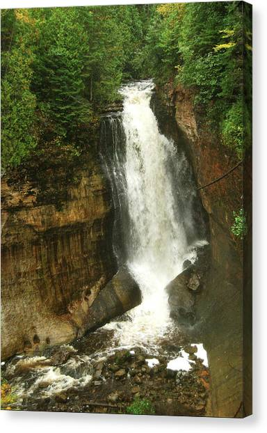 Alger Waterfalls Canvas Print - Miners Falls by Michael Peychich