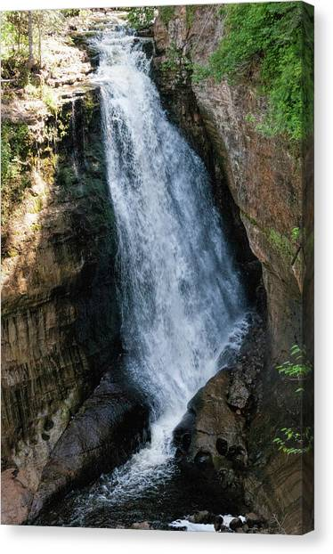 Alger Waterfalls Canvas Print - Miners Falls by Phyllis Taylor