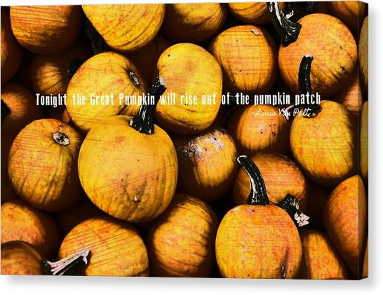 Mini Pumpkin Patch Quote Canvas Print by JAMART Photography