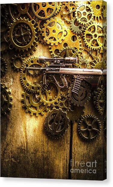 Special Forces Canvas Print - Miniature Steyr Aug A1 by Jorgo Photography - Wall Art Gallery