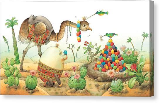 Minieggs And Maxiegg Canvas Print by Kestutis Kasparavicius