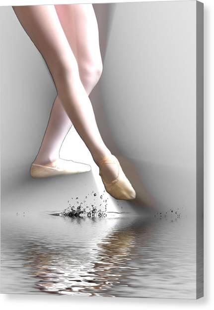 Minimalist Ballet Canvas Print