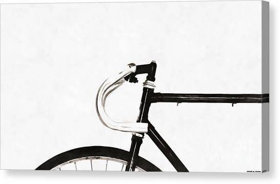 Abstraction Canvas Print - Minimalist Bicycle Painting by Edward Fielding