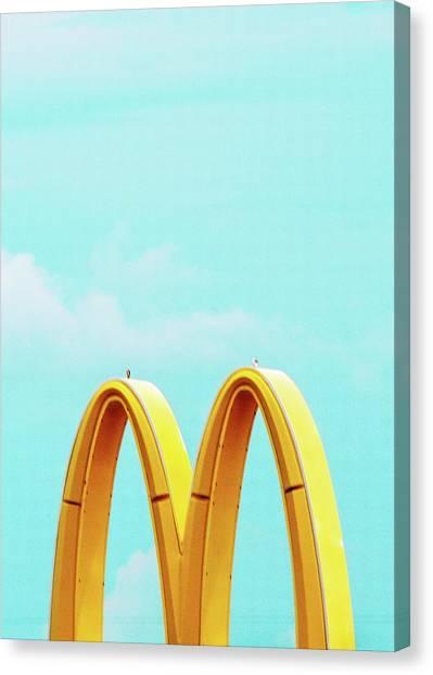 Minimalistic Mcdonald's Canvas Print by Dylan Murphy