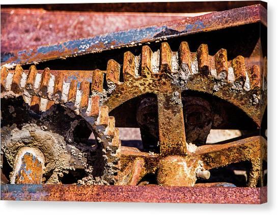 Mining Gears Canvas Print