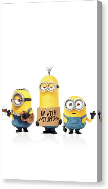 minion canvas print minions 2015 by fine artist