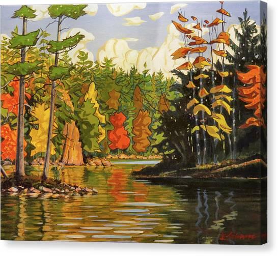 Mink Lake Narrows Canvas Print