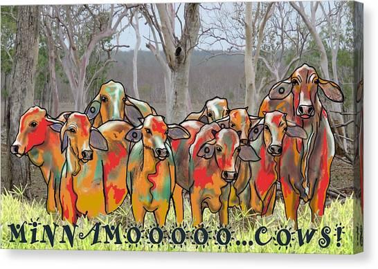 Canvas Print - Minnamooooo...cows by Joan Stratton