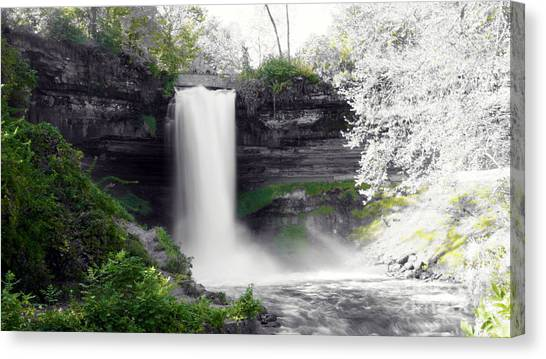 Minne Haha Falls Canvas Print