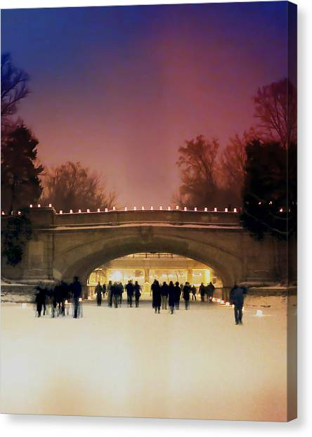 Minneapolis Loppet At Night Canvas Print