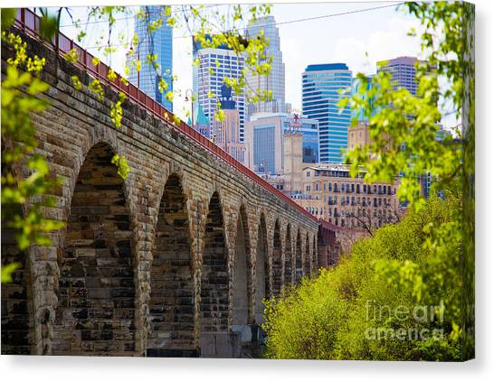 Minneapolis Stone Arch Bridge Photography Seminar Canvas Print