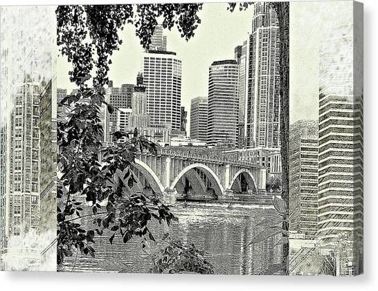 Minneapolis Vision Canvas Print by Susan Stone