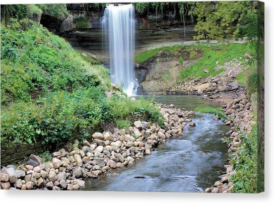 Minnehaha Falls Downstream Canvas Print