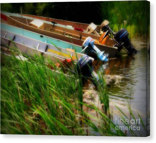 Fishing Tackel Canvas Print - Minnesota Morning by Perry Webster