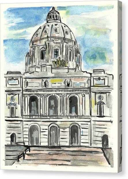 Minnesota State Capital Canvas Print
