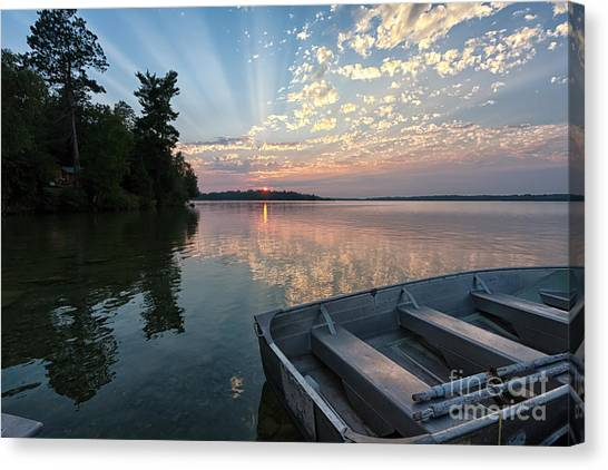 Minnesota Sunset At Deer Lake Canvas Print