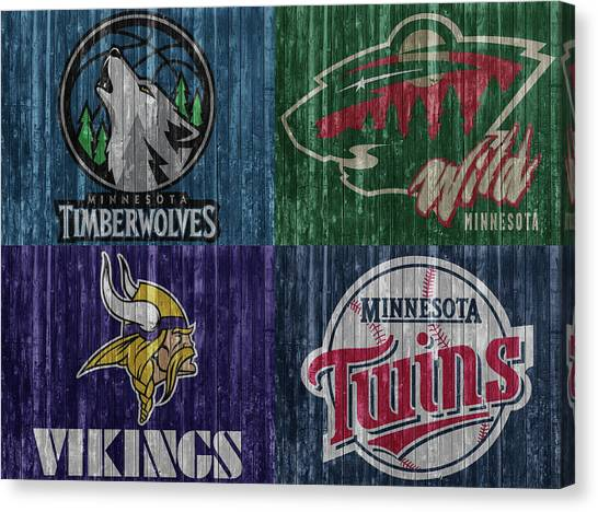 Minnesota Timberwolves Canvas Print - Minnesota Teams by Dan Sproul