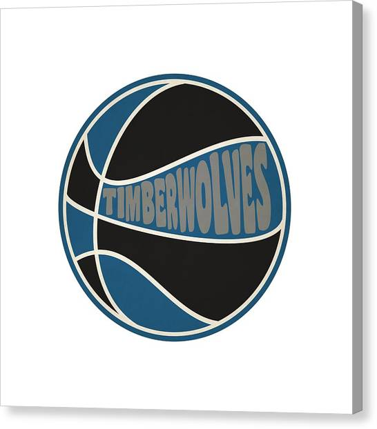 Minnesota Timberwolves Canvas Print - Minnesota Timberwolves Retro Shirt by Joe Hamilton