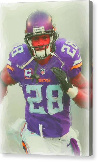 Minnesota Vikings Canvas Print - Minnesota Vikings Adrian Peterson 2 by Joe Hamilton