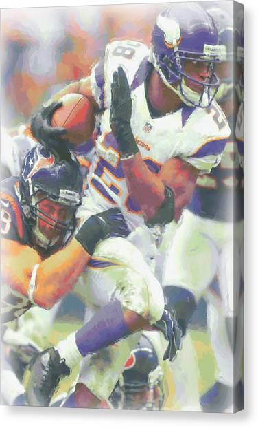 Minnesota Vikings Canvas Print - Minnesota Vikings Adrian Peterson 3 by Joe Hamilton