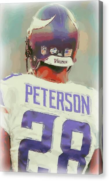 Minnesota Vikings Canvas Print - Minnesota Vikings Adrian Peterson 4 by Joe Hamilton