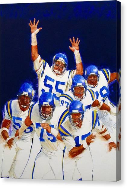 Minnesota Vikings Front Four  Canvas Print