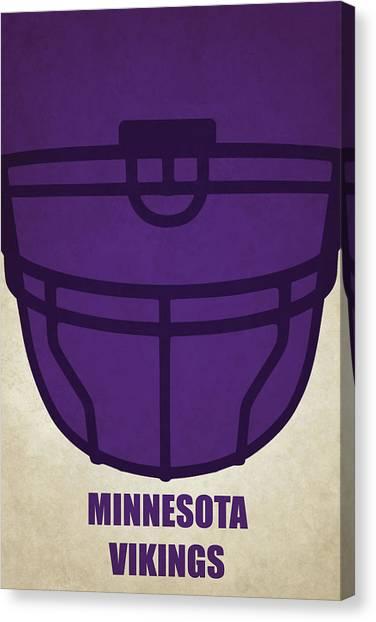 Minnesota Vikings Canvas Print - Minnesota Vikings Helmet Art by Joe Hamilton
