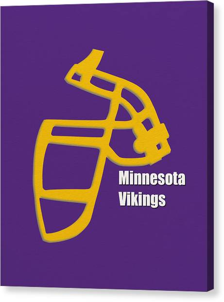 Minnesota Vikings Canvas Print - Minnesota Vikings Retro by Joe Hamilton