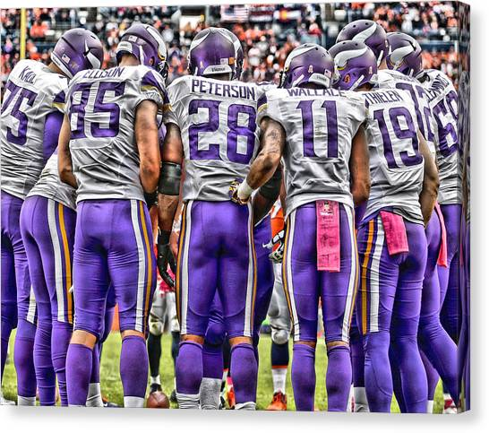 Minnesota Vikings Canvas Print - Minnesota Vikings Team Art by Joe Hamilton