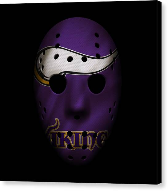 Minnesota Vikings Canvas Print - Minnesota Vikings War Mask by Joe Hamilton