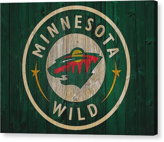 Minnesota Wild Canvas Print - Minnesota Wild Graphic Barn Door by Dan Sproul