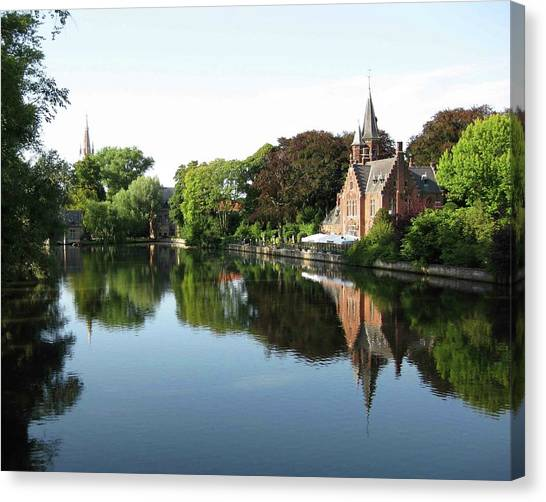 Minnetwaterpark Bruges Canvas Print by David L Griffin